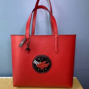 Coach Wizard of Oz Ruby Slipper Highline Tote NWT